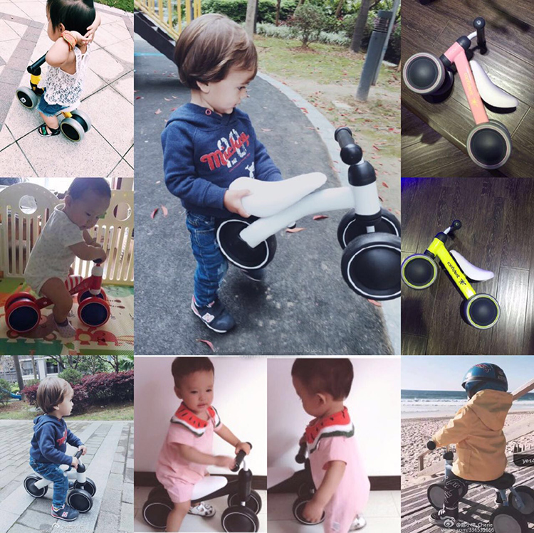 HTB1oT3YaQT85uJjSZFhq6APEVXaX New brand children's bicycle balance scooter walker infant 1-3years Tricycle for driving bike gift for newborn Baby buggy