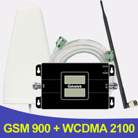 500 Square Meters 2G 3G GSM 900 WCDMA 2100 Dual Band Mobile Phone Signal Repeater GSM