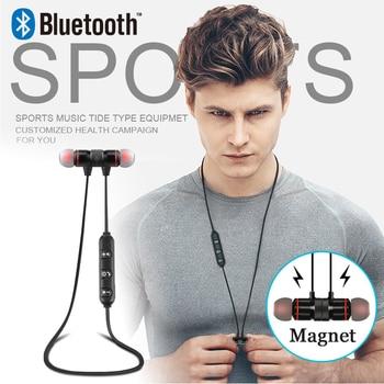 Teamyo Wireless earphone Metal Sports audifonos Bluetooth earphone Fone de ouvido For xiaomi Magnetic Stereo Wireless Headphone magnetic attraction bluetooth earphone headset waterproof sports 4.2