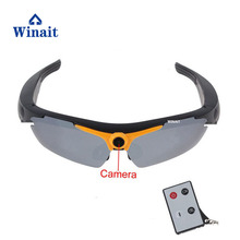 Winait hd 720p digital video sunglasses with remoter control/wirless camera sunglasses free shipping