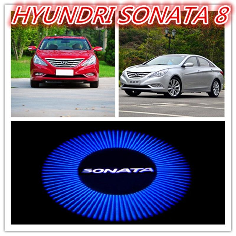 For HYUNDRI SONATA 8 , Modern Sonata 8 ,the Door LED Lights ,Car Dedicated Welcome Lights, Door Projection Lamp , 2 Piece/lot