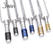 WinWinWin 3pcs/lot New Stainless Steel Aroma Aromatherapy Essential Oil Diffuser Perfume Bottle Necklace For Couple Special Gift