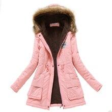 Womens Parka Casual Pregnant Woman Wear Autumn Winter Military Hooded Coat Jacket Women Fur Coats Maternity Clothing