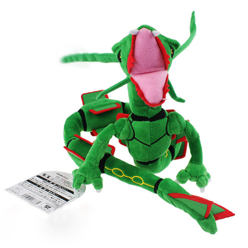 2017 Free Shipping 83cm Plush Toy Green Rayquaza Dragon Plush Toys Doll Soft Stuffed Animals Toys Brinquedos Gift for Children plush animals toys for children simulation raccoon doll toy gift soft