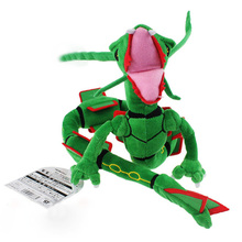 2017 Free Shipping 83cm Plush Toy Green Rayquaza Dragon Plush Toys Doll Soft Stuffed Animals Toys Brinquedos Gift for Children