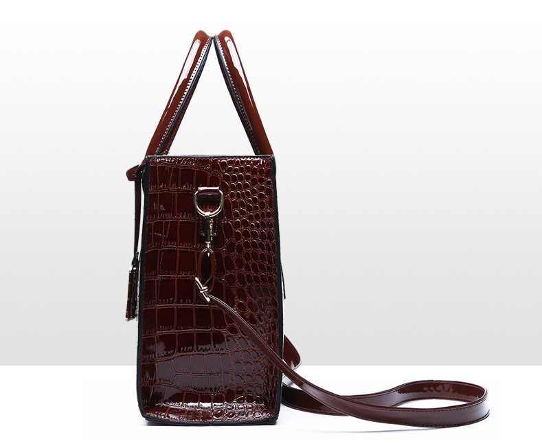 Bolsa Mujer сумки для женщин 2019 роскошные сумки женские сумки дизайнерские кожаные сумки через плечо с крокодиловым узором sac a C824