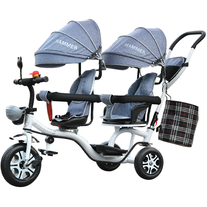 Free ship! Twin tricycle Children's Tricycle / Twin Stroller Double Trolley Swivel Seat rotate seat face to face Many colors 3 5mm line 32mm 1 1 4 inside trigger snap hook black gun swivel clasp lobster claws swivel hooks hardware free ship