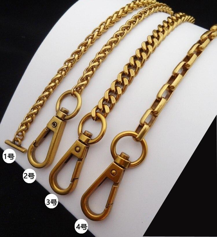 100/110cm High Quality Bag Chain Shoulder Bag Straps Metal Chains Diy Bags Vintage Bag Chain Chic Handbag Accessories Golden