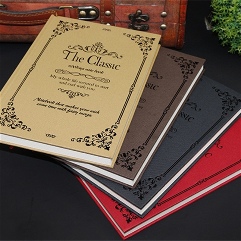 Creative Vintage Notebook A5 Magic Book School Supplies Stationery Classical Fashion Personal  Diary Notebooks Notepad Gift creative leather notebook a5 school office supplies stationery cute diary notebooks metal rubber buckle conference notepad gift