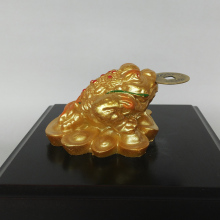 Newest HOT Sales Golden Three Legs ingot Frog Lucky Toad Statue Home Decoration Feng Shui for Fortune Sculpture