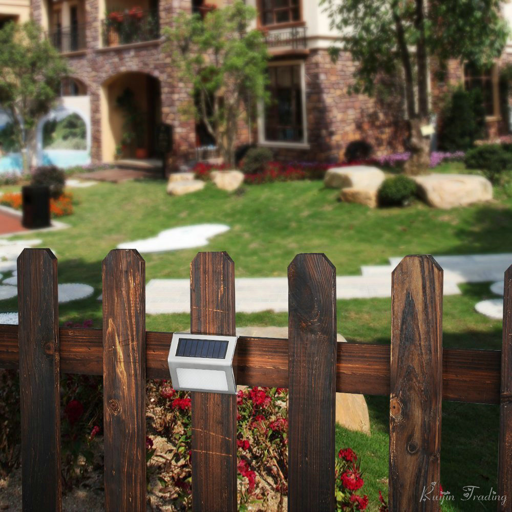 Popular solar garden fence buy cheap solar garden fence lots from night light solar powered wall mount pathway stainless pir motion sensor yard garden fence security stair baanklon Choice Image