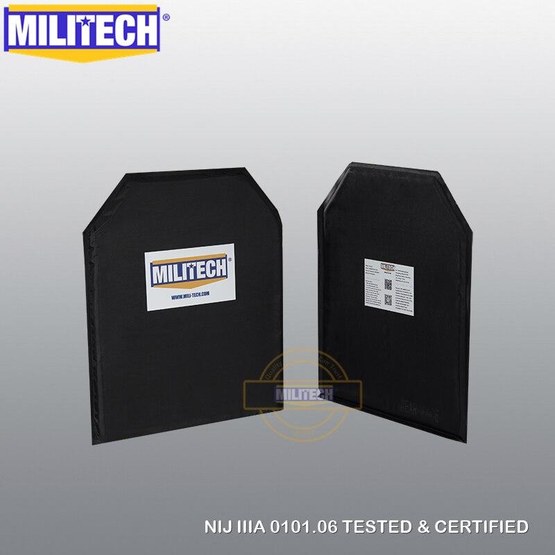 MILITECH 10 x 12 Shooters Cut Pair NIJ IIIA Aramid Ballistic Panel E2 Level 2 Stab
