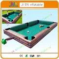 7.8*4.8 m marrom SnookBall Inflável Gigante do jogo mesa de bilhar, mesa de bilhar mesa de futebol inflável