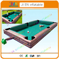 7.8*4.8m brown Giant Inflatable   SnookBall pool table game,inflatable football billiards table