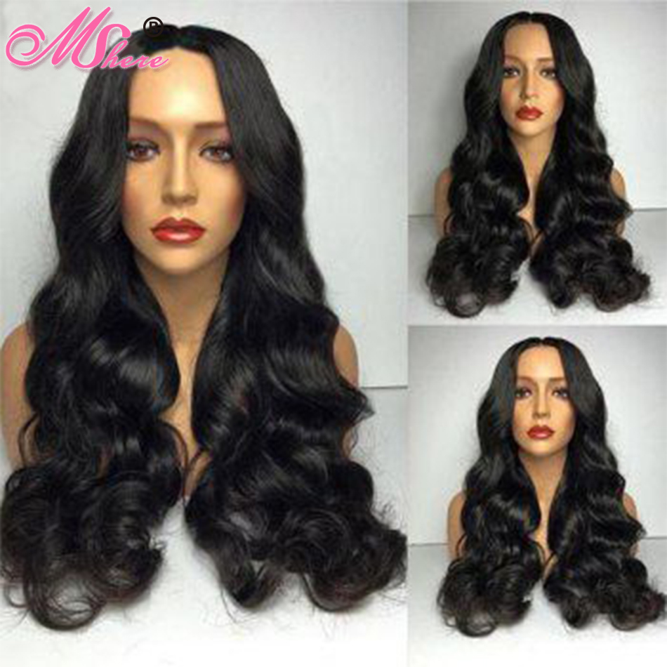 13x4 Body Wave Lace Front Human Hair Wigs Pre plucked Hairline With Baby Hair 150 Short