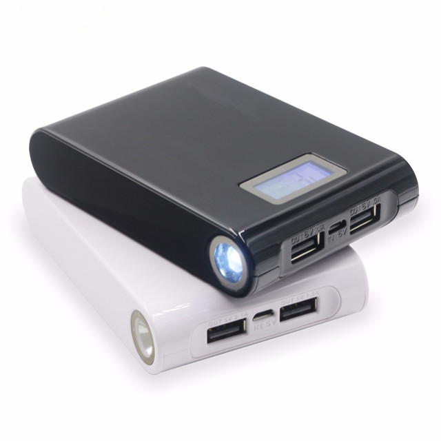 Free Shipping Rechargeable Lithium 18650 Battery and Charger 12000Mah for Tablet Power Bank
