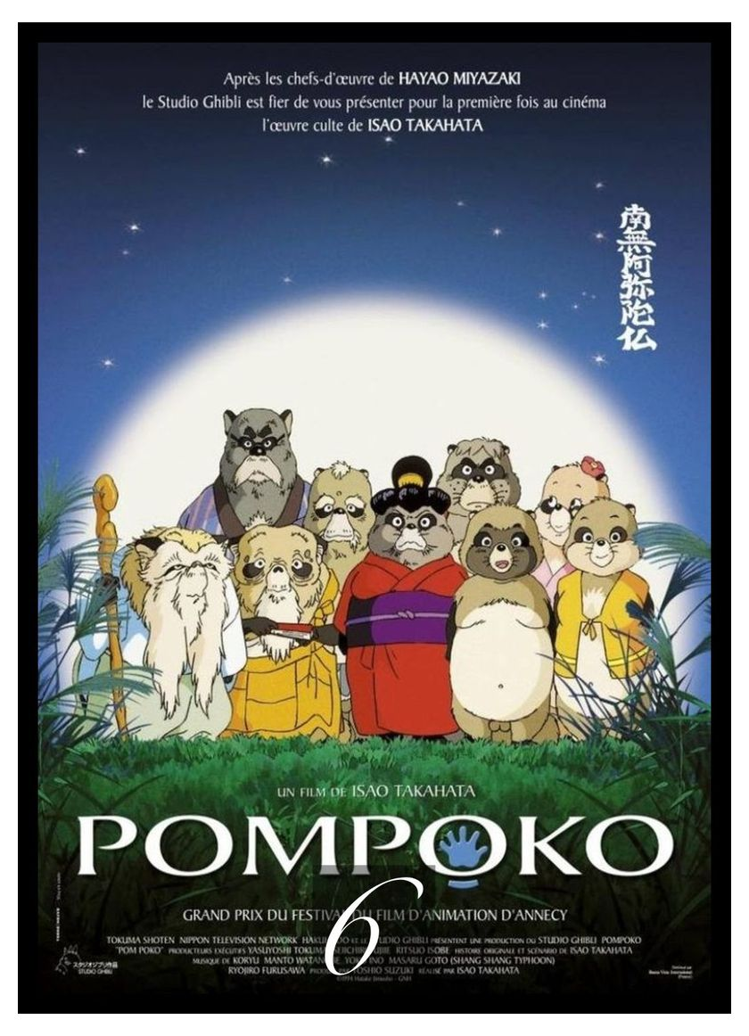 Pom Poko Movie Home Decorative Painting White Kraft Paper Poster ...