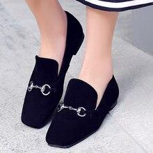 2016 New Career horsebit loafers Genuine Leather Shoes Women Flats luxury designer brand low Heels gg comfort girls Ballet black