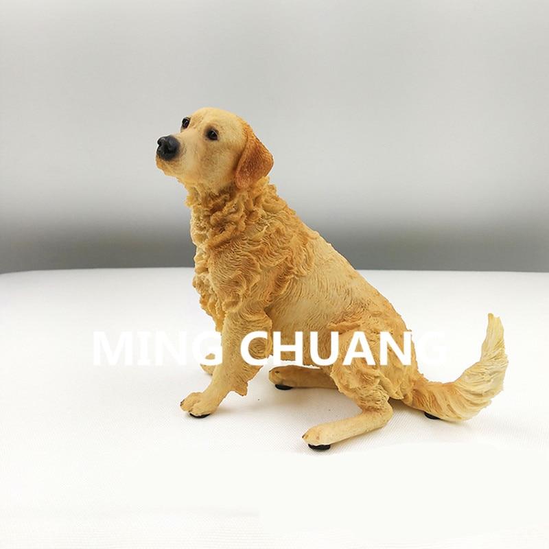 Simulasi Lucu Anak Anjing Patung Single Anjing Golden Retriever Anjing Keluarga Resin Action Figure Collectible Model Toy 11 Cm Q111 Aksi Toy Angka Aliexpress