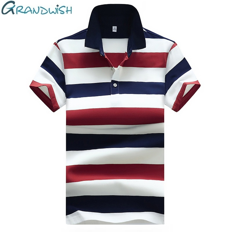 Summer Casual Men's   Polos   Solid Short Sleeve Striped   Polos   Shirts Clothing for Man Cotton Breathable Fit Clothes Male 4XL,ZA207