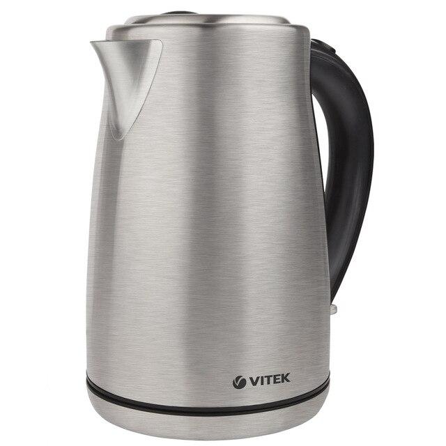 Чайник электрический Vitek VT-7020(ST) (Мощность 2000 Вт, объем 1.7 л, корпус из нержавеющей стали, вращение 360°, автоотключение)