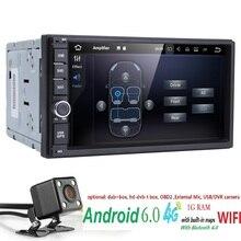 Android 6.0 Авто Радио Octa Core 7 дюймов 2 din универсальный автомобильный нет dvd-плеер GPS стерео аудио головное устройство поддержка dab DVR OBD RDS SWC