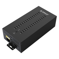 ORICO 30 Ports Industrial USB2.0 Hub for TF SD U disk Data Test Batch Copy Balck Multi port charging
