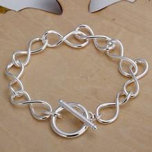 2016 Hot Silver Color Jewelry bracelet, silver plated wristlet vintage-accessories 8 Shape Bracelet /IJAHLPUI UEDIBTUVI