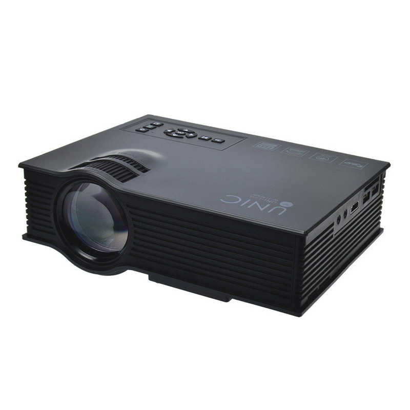 1200 lumen mini portable led 3d projector 1080p multimedia home theater av hdmi