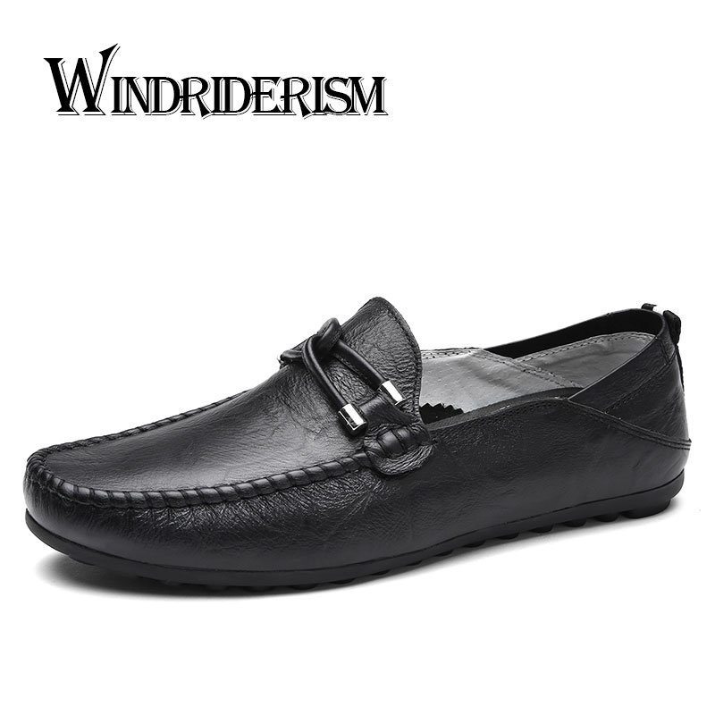 WINDRIDERISM slip on casual men loafers spring and autumn mens moccasins shoes genuine leather men's flats shoes dxkzmcm new men flats cow genuine leather slip on casual shoes men loafers moccasins sapatos men oxfords