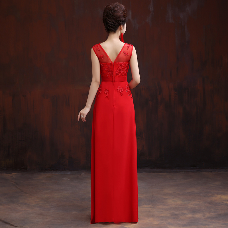 CEEWHY Beading Embroidery Prom Dresses Formal Gowns Wedding Party Dresses  Elegant Long A Line Chiffon Bridesmaid Dresses-in Bridesmaid Dresses from  Weddings ... 0e92ec020710