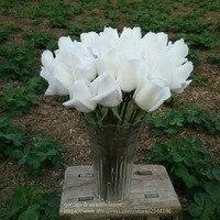 Arreglo de flores artificiales, rosas verdaderas del tacto y set, decoración de la boda, Centros de mesa, blanco rojo azul rosa champán