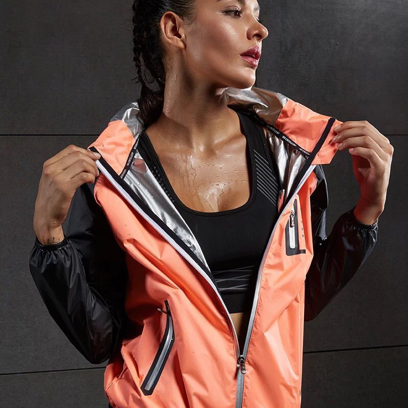 Hot Sweat Women Yoga Shirts Quick-drying Sport Zipper Jackets Long Sleeve Fitness Running Tops Training Hooded Coat Sportswear