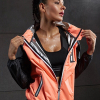 Hot Sweat Women Yoga Shirts Quick drying Sport Zipper Jackets Long Sleeve Fitness Running Tops Training Hooded Coat Sportswear