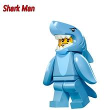 PG927 Shark Suit Guy 71011 Collectable Series 16 Penguin BoyBuilding Blocks Children Christmas Gift Toys 71013