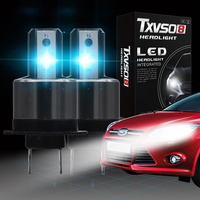 2PCS 20000LM 110W/Set (1PCS/55W) H7 Ford Focus 6000K white LED bulb with a diameter of 26 mm for Ford Focus models.
