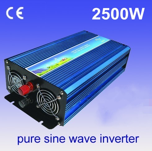 off grid power solar converter DC 12v to AC 220v 2500w 5000watt peak pure sine wave inverter DHL fedex dhl ups free shipping portable solar power inverter 2500w pure inverter peak 5000watt 2500w inversor puro