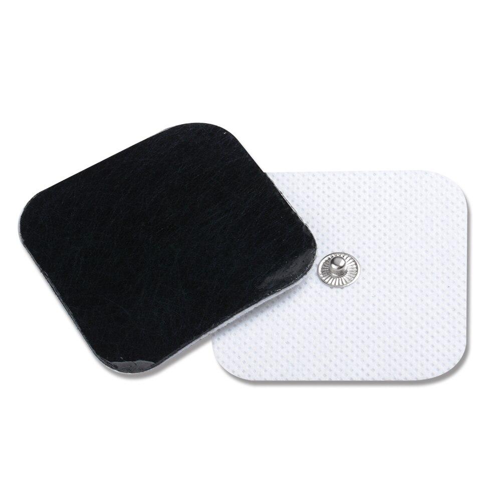 100 Pairs TENS Elektroden Pads Met Knop 3.5mm Gebruik Voor TIENTALLEN/EMS Machines Maat 5*5cm-in Massage & Ontspanning van Schoonheid op  Groep 1