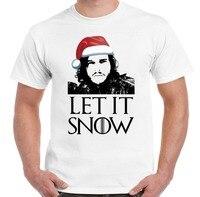Xmas Gift Let It Snow Game Of Thrones Inspired Men S T Shirt Jon John Secret