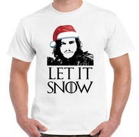 Xmas Gift Let It Snow Game Of Thrones Inspired Men S T Shirt Jon John Secret