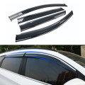 4pcs/lot Car Styling Awnings Shelters Accessories Guard Rain Shield Window Visor For Hyundai Tucson 3rd TL 2015 2016 Stickers