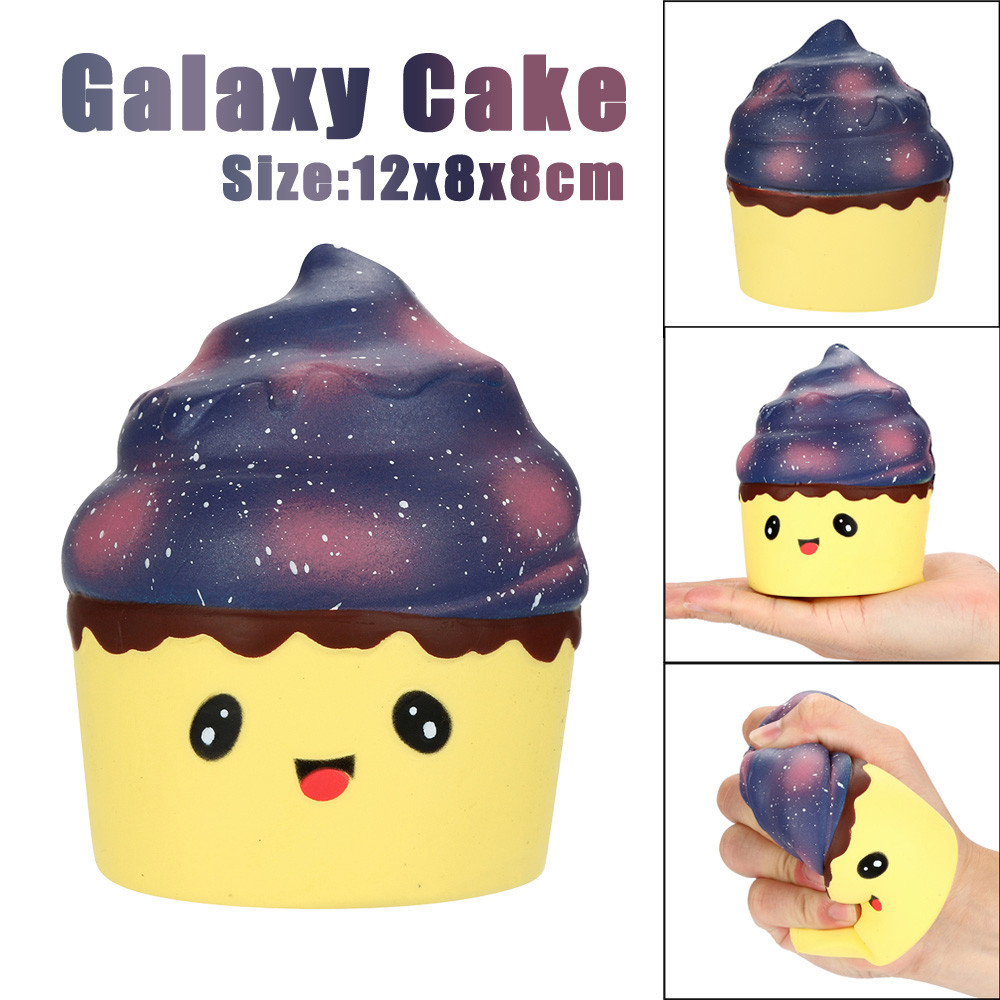 12cm Squishy Poo Galaxy Cake Relieve Anxiet Squeeze Slow Rising Fun Kid toys for children oyuncak wholesale Squishy Toy 2018