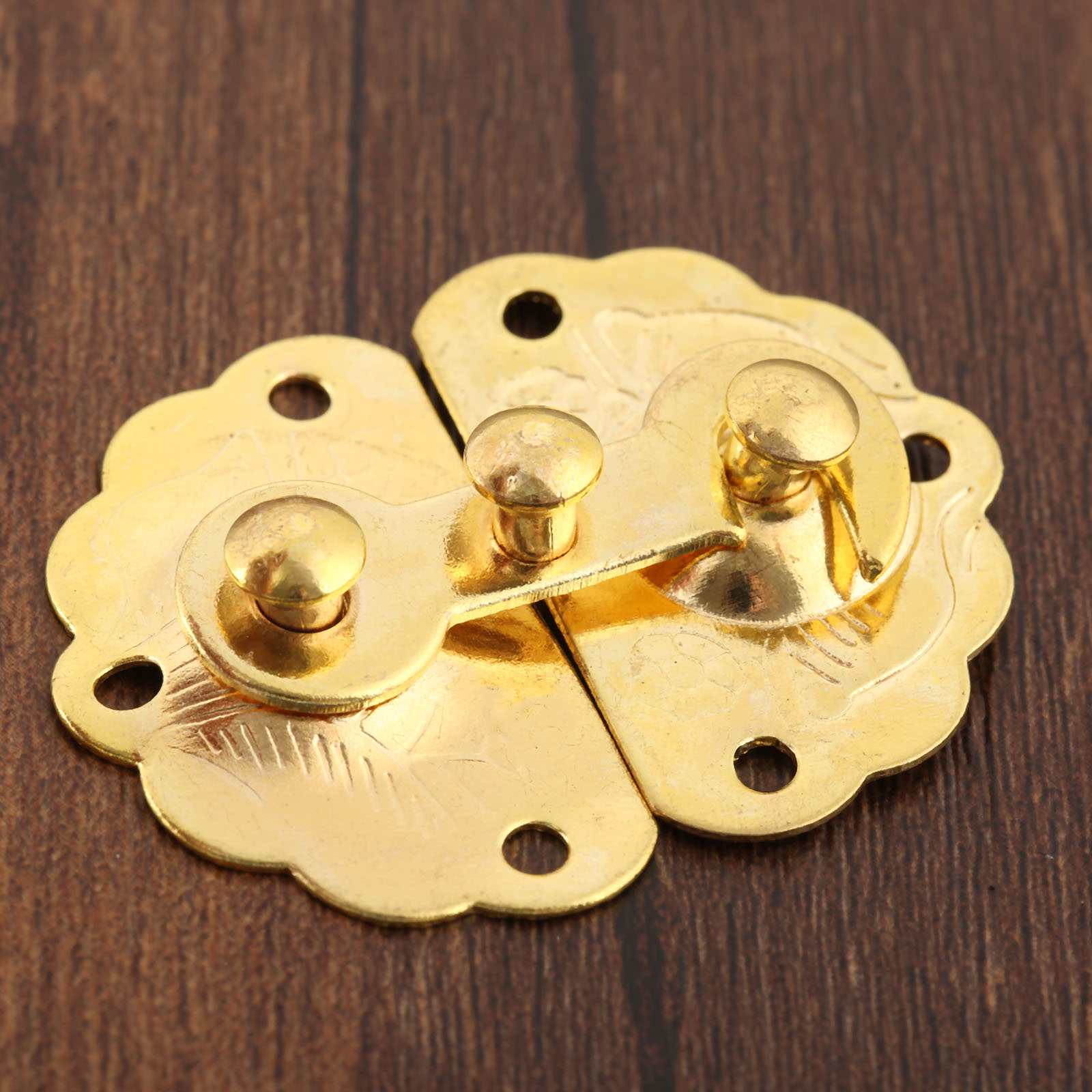 2Pcs Gold Iron Latches Catches 35*45mm Hasps Clasp Buckles Small Lock For Jewelry Wood Box Suitcase Furniture Hardware