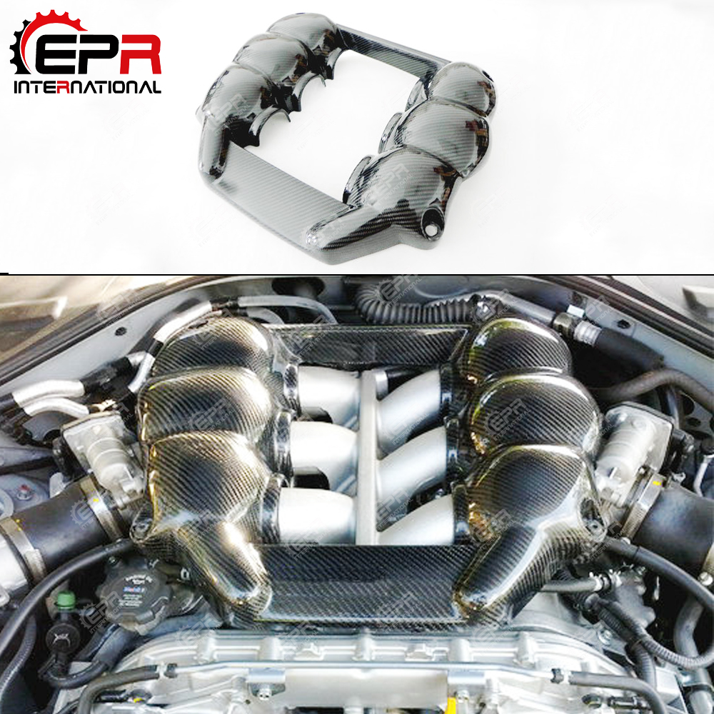 Voiture-Style pour Nissan R35 GTR CBA DBA m-style fibre de carbone MINE moteur couverture finition brillante GT-R garniture intérieure Kit de réglage