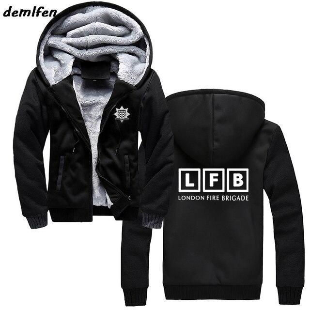 149830d13311 Winter Men United Kingdom LFB London Fire Brigade Firefighter Firemen  Rescue Sweatshirt New Brand Clothing Casual Print hoodies