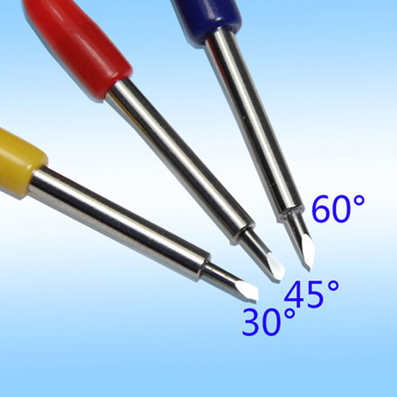 10 pcs Roland lettering knife blade Roland plotter cutter vinyl cutting GCC high quality carbide 30 deg 45 deg 60 deg