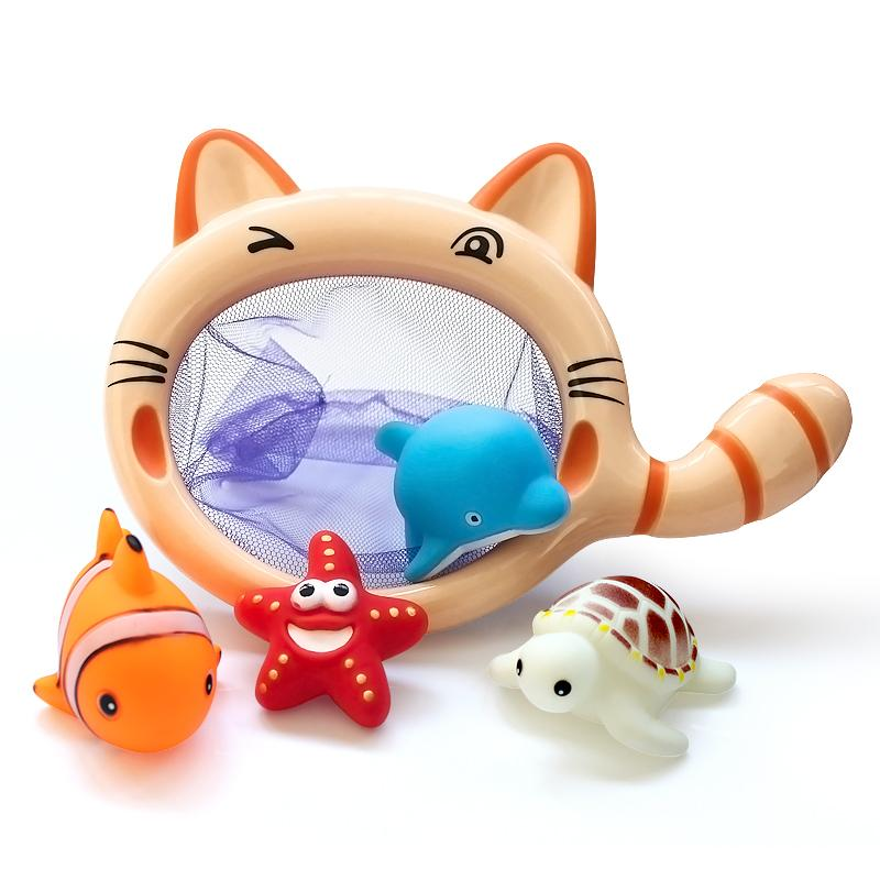 (set Von 5) Baby Bad Spielzeug Lustige Angeln Spielzeug Netzwerk Pick Up Fisch Kinder Spielzeug Schwimmen Klassen Wasser Spielen Baby Bad Spielzeug Ente