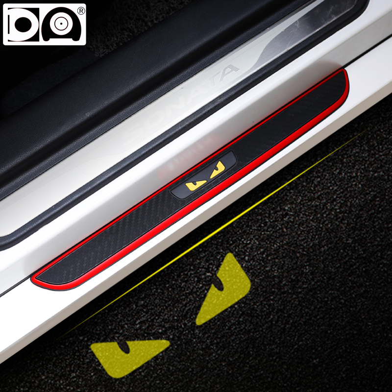 Car Rubber Door sill scuff plate Welcome pedal for Toyota Rav4 Aygo Prius Corolla Highlander Mirai Hilux Fortuner Avensis Hiace in Styling Mouldings from Automobiles Motorcycles