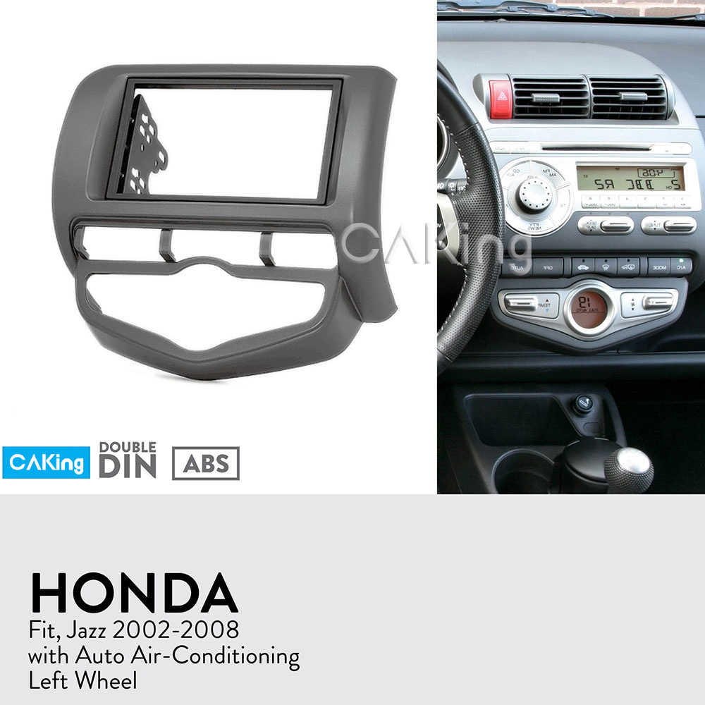 Car Fascia Radio Panel for Honda Fit Jazz 2002 2008 Auto Aircon Left Wheel Dash Kit