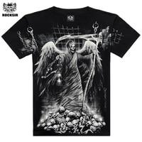 New 2015 Gray 3D Printed T Shirt Hip Hop Rock One Neck 100 Cotton Camiseta 3d